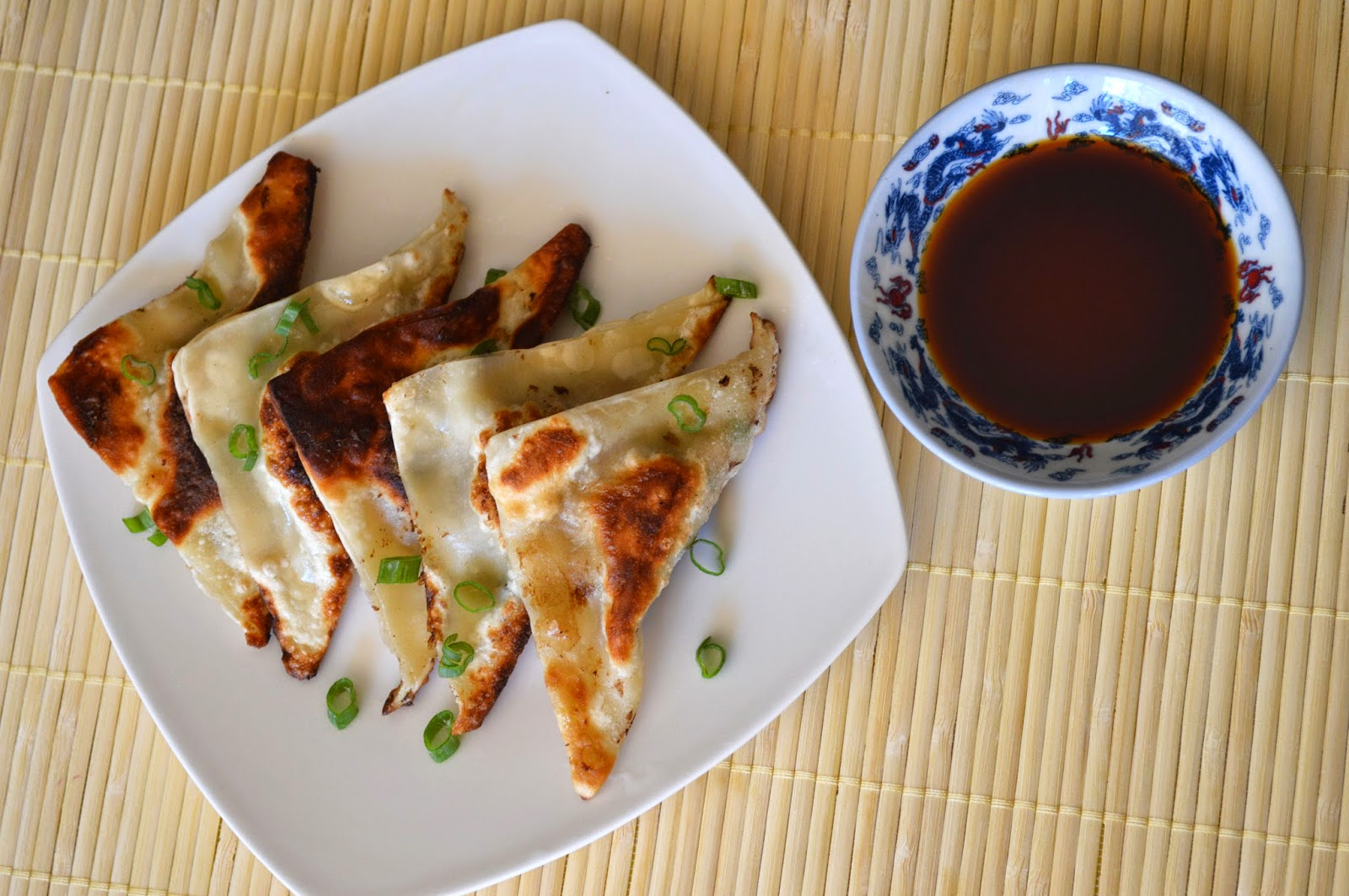 Ginger Scallion Dumplings with Soy Sesame Dipping Sauce Recipe