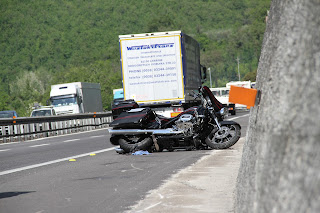 motorcycle accident, italy, autostrada