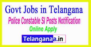 TS Police Notification 2017 Police Constable SI Posts TS Police Jobs Recruitment TSLPRB