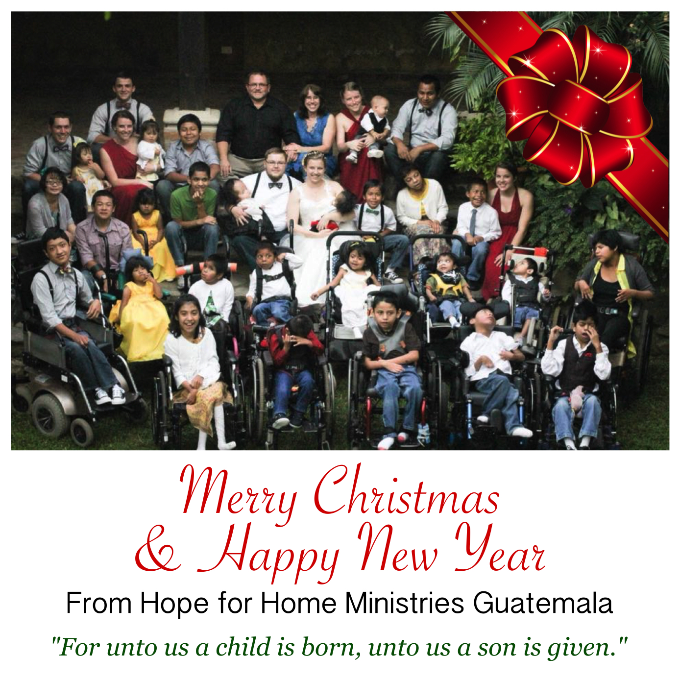 Hope Fulfilled: Merry Christmas & Happy New Year!