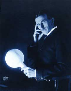 ...My Books are filled with Edison and Einstein but my heart searches for Tesla...