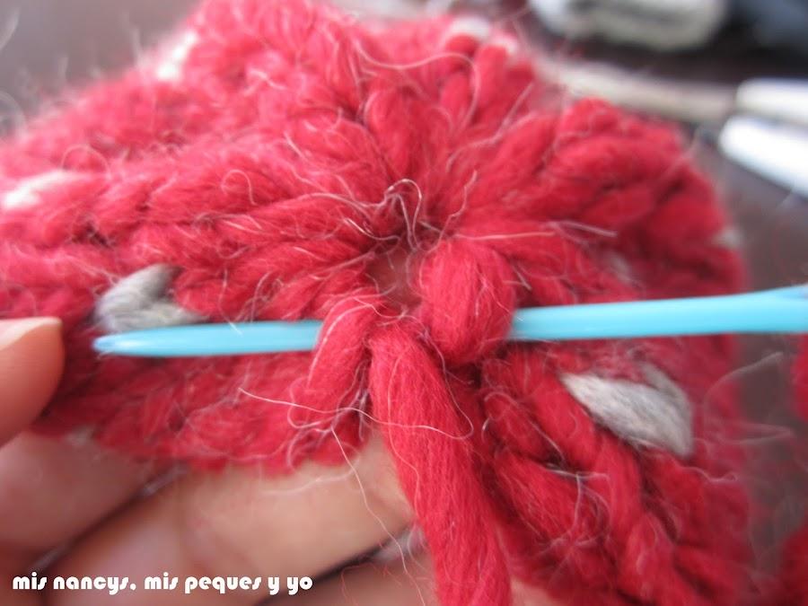 mis nancys, mis peques y yo, tutorial gorros de lana nancy, coser puntadas