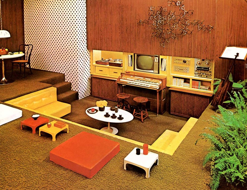 I Guess You Could Say One Of My Retro Related Regrets Is That Ve Never Been In A Home Had Sunken Room Or Conversation Pit