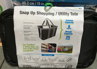 Clevermade SnapBasket Snap Up Shopping/Utility Tote - Big, sturdy, easy