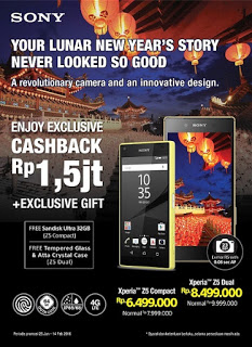 Promo Sony Cashback Rp 1.5 Juta + Exclusive Gifts