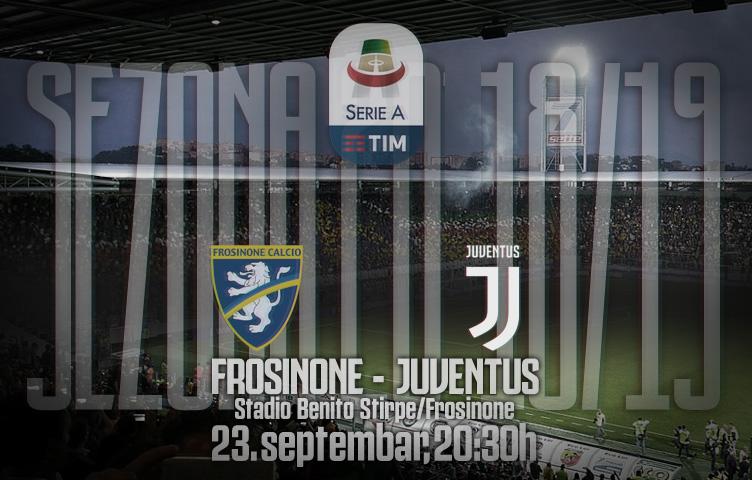 Serie A 2018/19 / 5. kolo / Frosinone - Juventus, nedelja, 20:30h