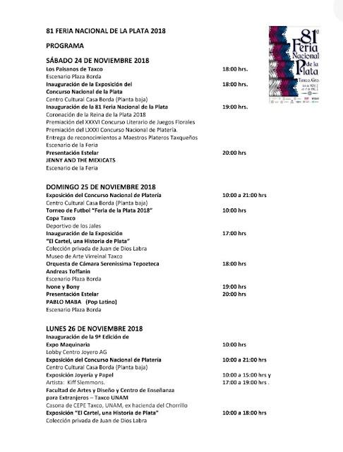 programa feria taxco 2018