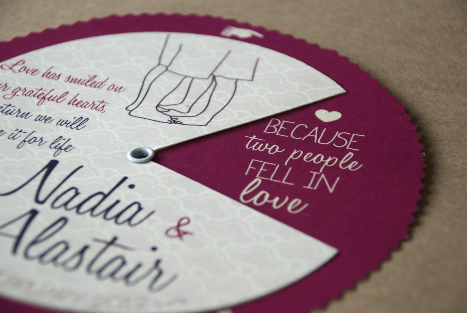 Nadia And Alastair S Wheel Invitations