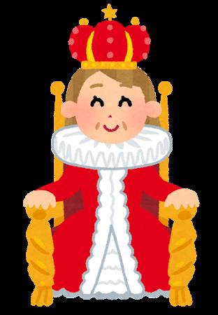 玉座に座る女王のイラスト