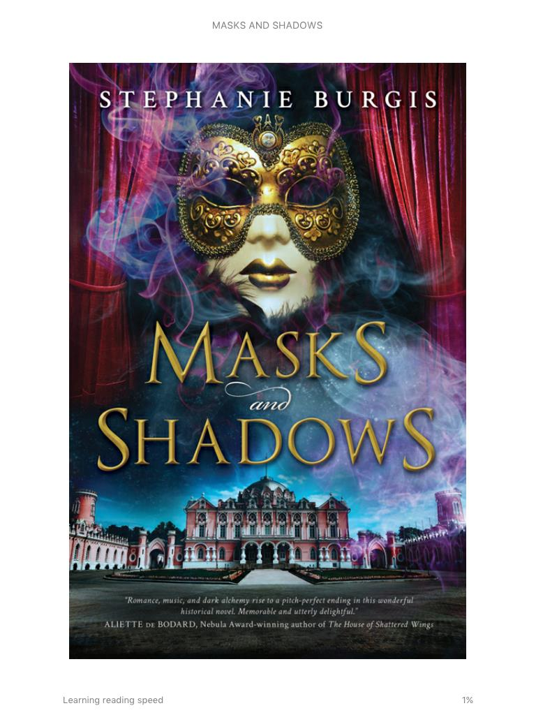 Mask and Shadows by Stephanie Burgis book cover