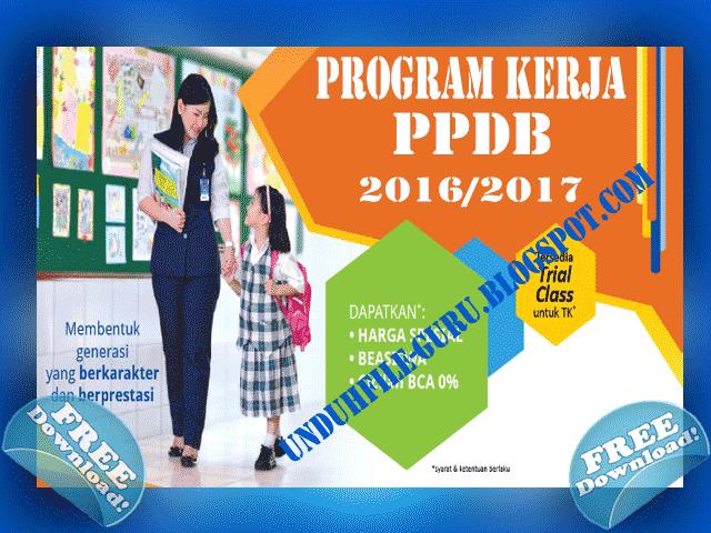 Download Contoh Program Kerja Penerimaan Peserta Didik baru (PPDB)