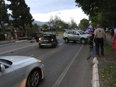 British driver mounts pavement and deliberately smashes into pedestrians including 7-weeks-old infant in Marbella