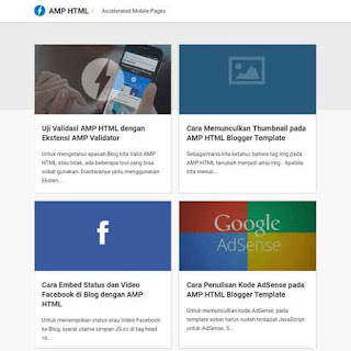 AMP HTML Blogger Template [By Kang Ismet]