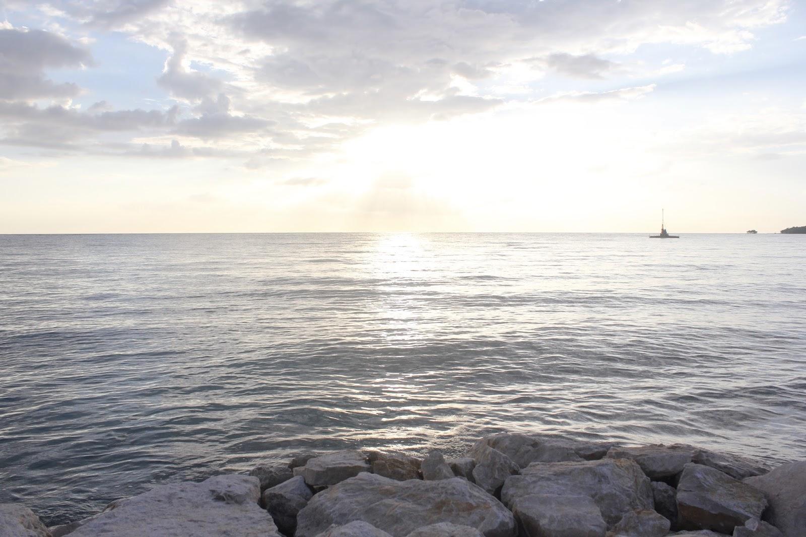 Caribbean Ocean sunset