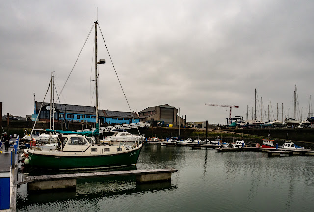 Photo of grey cloud on Thursday at Maryport Marina