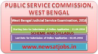 wesst+bangel+judicial+service+examination+2016+scheme+and+syllabus