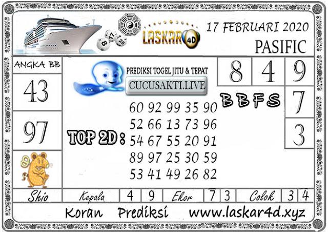 Prediksi Togel PASIFIC LASKAR4D 17 FEBRUARI 2020