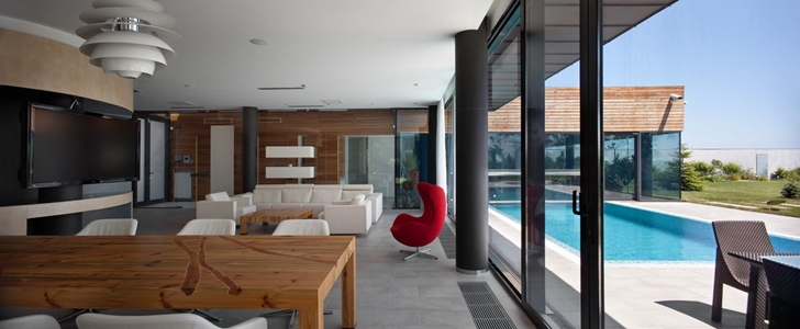 Interior of Contemporary house in Ukraine by Drozdov & Partners
