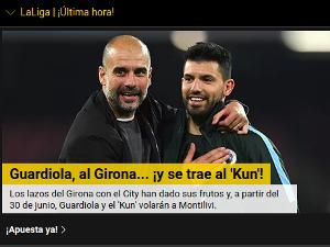 Guardiola ficha por el Girona junto al Kun