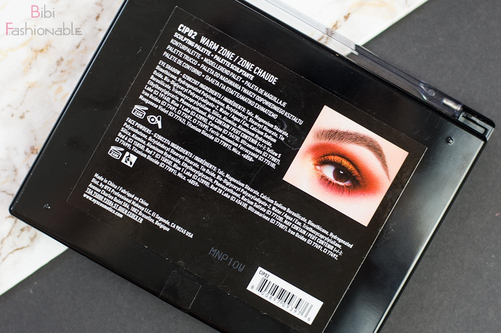Contour Intuitive Eye & Face Sculpting Palette Warm Zone Rückseite