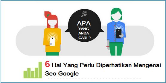 Dijelaskan Tentang 6 Hal Yang Perlu Diperhatikan Mengenai Seo Google
