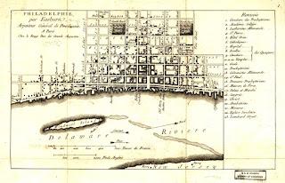 Plano de la ciudad de Filadelfia.