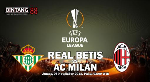 Prediksi Real Betis vs AC Milan  09 November 2018