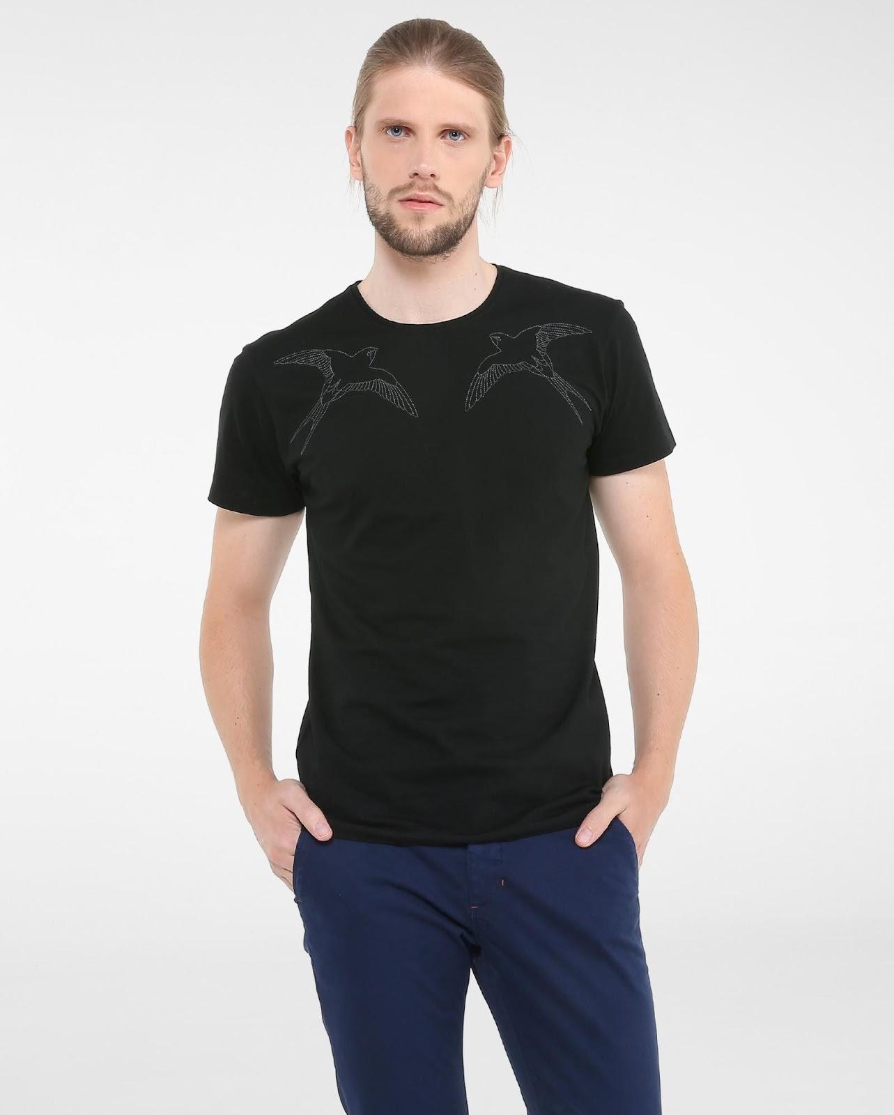 LEO KLEIN - KADU DANTAS PARA RIACHUELO - Camiseta Bordado Pássaros