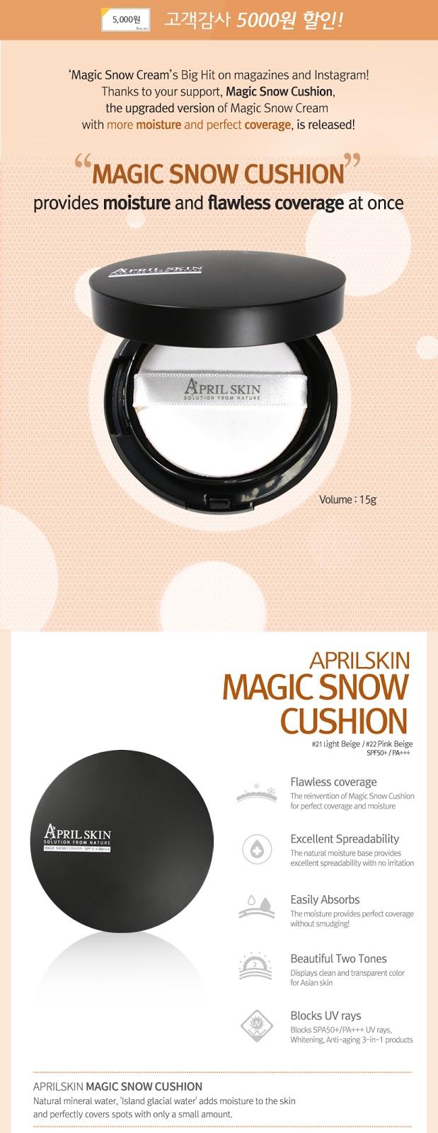 Review April Skin Magic Snow Cushion Spf 50 Pa Celine Han Makeup Apieu Air Fit Spf50pa 23 Natural Beige Set Free Refill