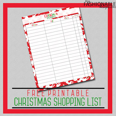 picture about Printable Christmas Shopping List named My Modern day Layouts: No cost Printable Xmas Browsing Listing