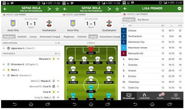 Aplikasi Live Score
