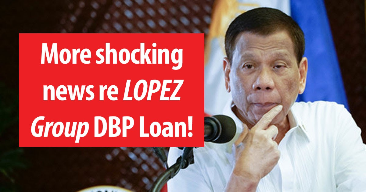 Of the ₱9.56 billion in loans written off by the DBP, 17% or ₱1.6 billion were from the Lopez Group