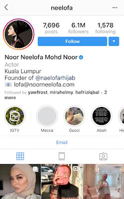 neelofa instagram