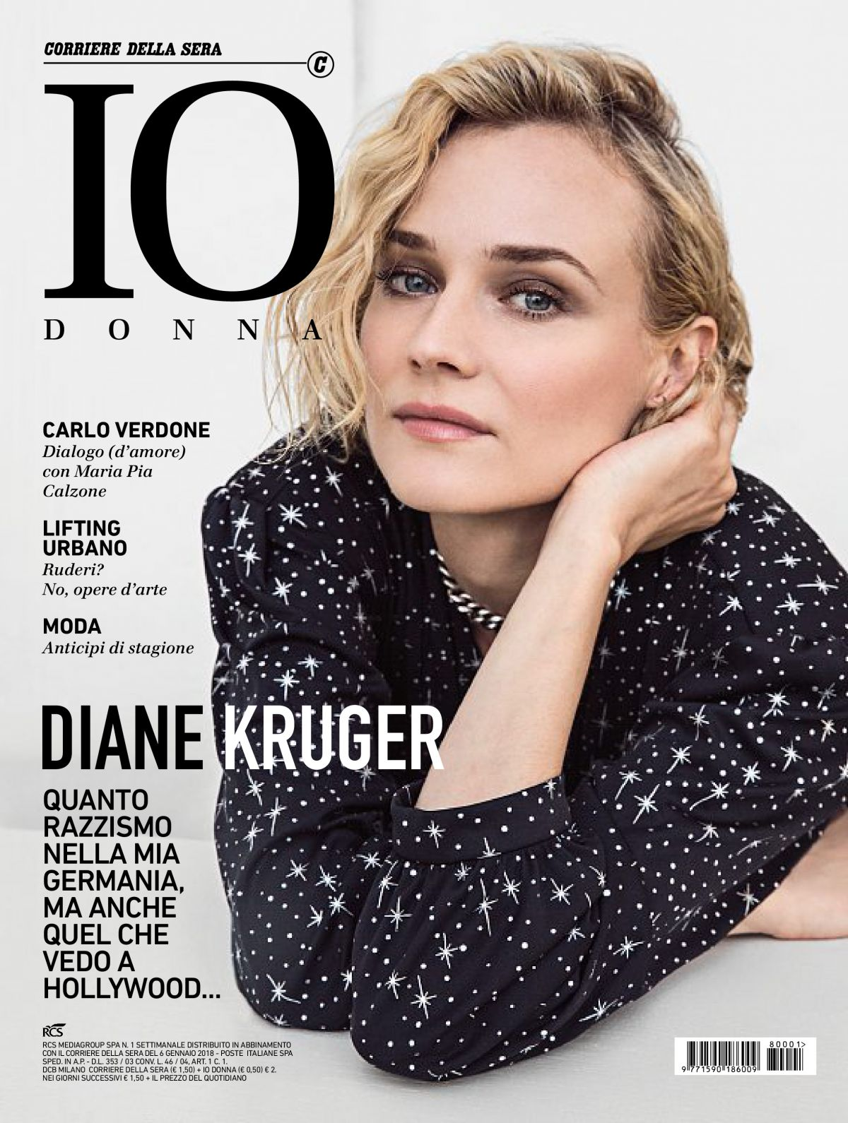 Diane Kruger In Io Donna Del Corriere Della Sera January 2018 issue
