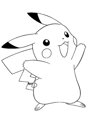 Pokemon Pikachu Smile Coloring Pages Free For Kids Choosboox