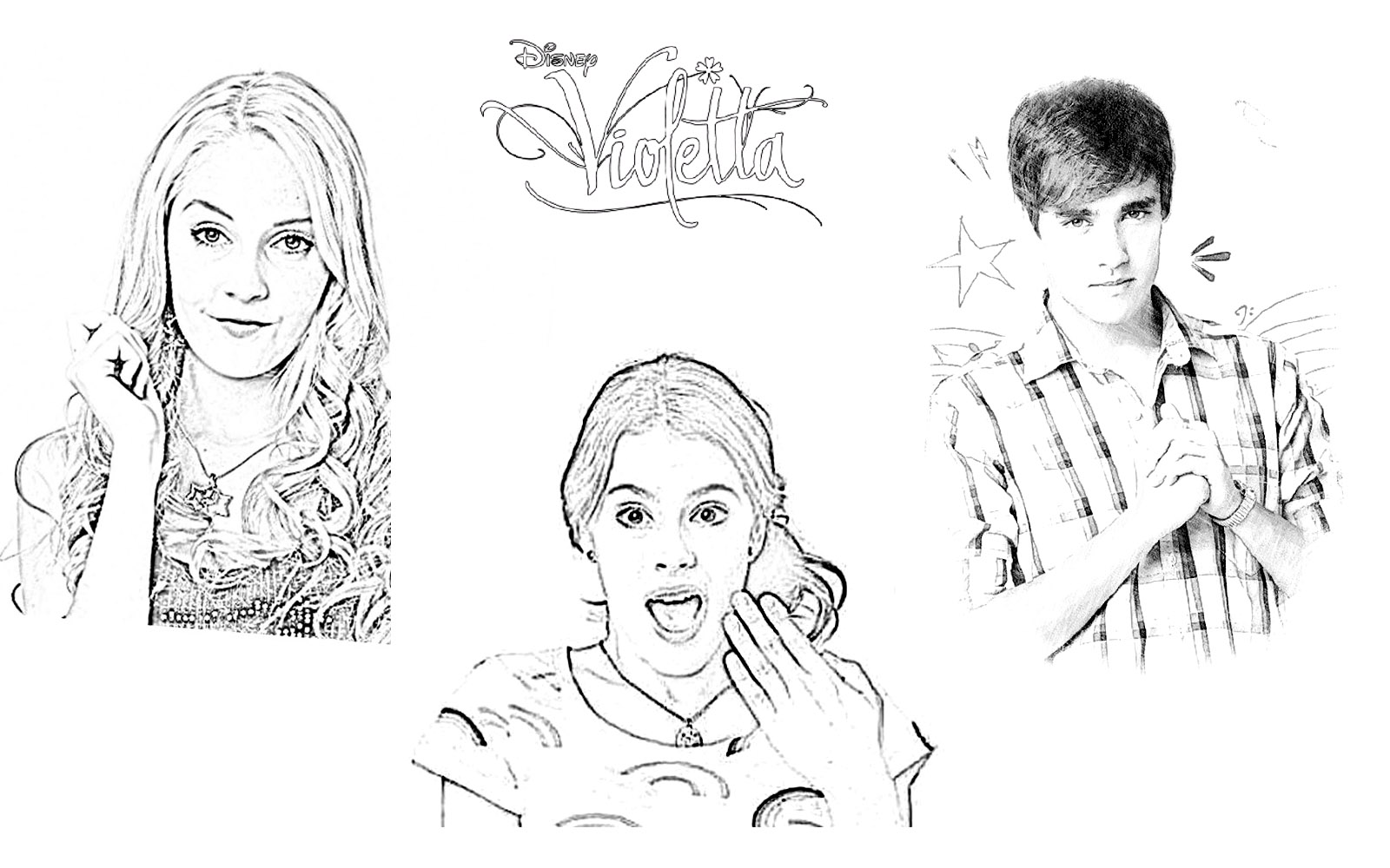 Dibujos Sin Colorear Dibujos De Violetta Disney Para: Desenhos Para Colorir E Imprimir: Desenhos Para Colorir Da