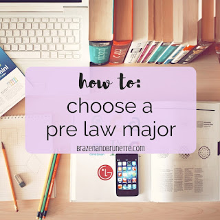 Dreaming of going to law school? Here's how to pick a major for law school. The best pre-law majors. What major is required for law school. What major helps you get in to law school. Degree requirements for law school. Choosing a major for law school. Best college major for pre-law. Which major to choose for law school. Popular pre law majors. law school advice. law school tips. law school blog. law student blogger. | brazenandbrunette.com
