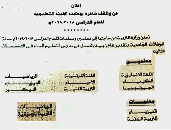 """الكويت تفتح باب التقديم بوظائف المعلمين """" لغة انجليزية - فرنسية - رياضيات - علوم - تربية بدنية - تربية موسيقيه """" للتقديم هنا"""