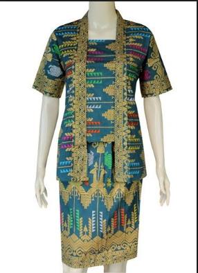 Model Baju Batik Songket Elegan Modern Terbaru