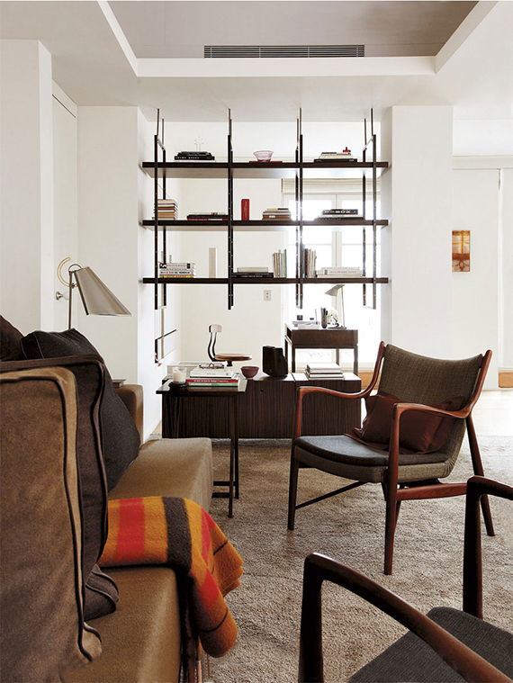 Eclectic modernist apartment in Spain. Design by Andrée Putman. Image by Antonio Terron for AD Spain