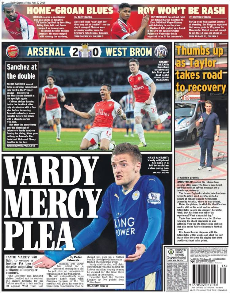 TODAY UK SPORTS NEWSPAPER HEADLINES | :: Michezo Tu