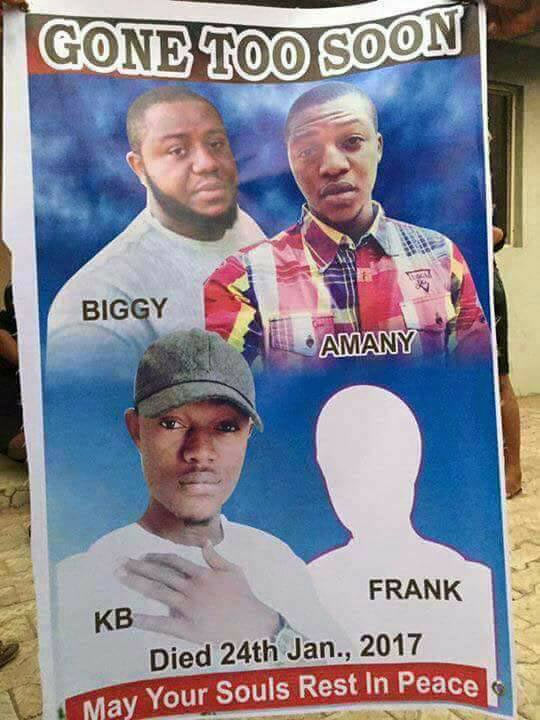 Very sad: Obituary poster of four brothers who died in road crash