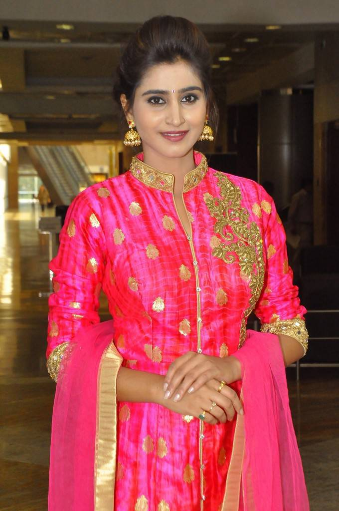 Tollywood Model Shamili At Hi Life Exhibition Event In Red Dress