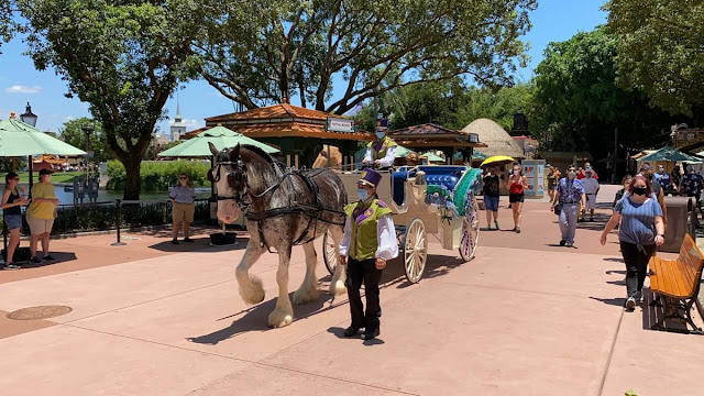 Character Cavalcades Frozen Promenade Phased Reopening EPCOT Walt Disney World Resort
