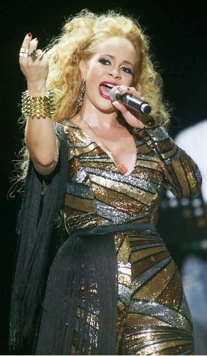 Foto de Miriam Aracelis en el escenario