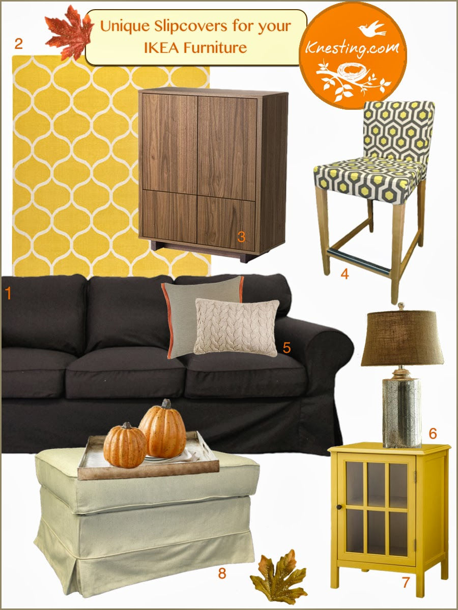 Knesting Ikea Inspiration Fab Fall Makeover