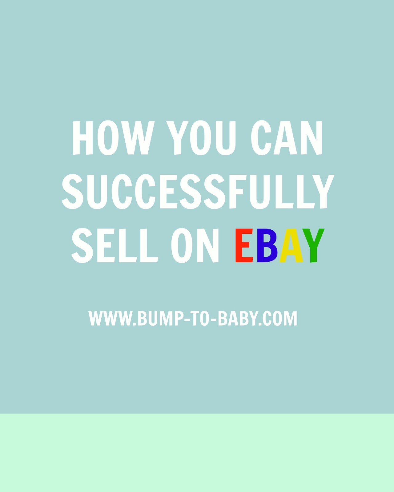 eBay tips for selling successfully