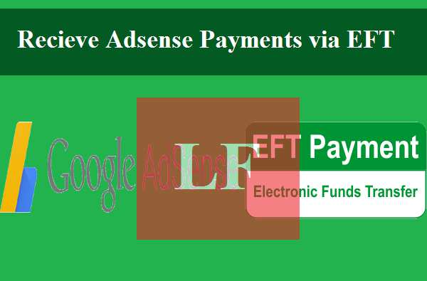 recieve adsense payment via EFT