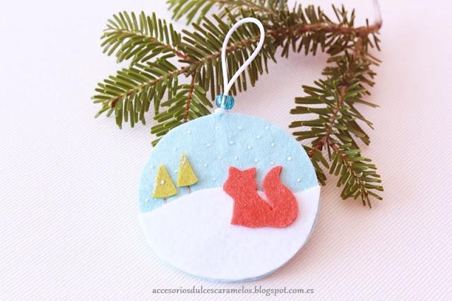 Fieltro dulcescaramelos bolas de navidad en fieltro for Bolas navidad fieltro