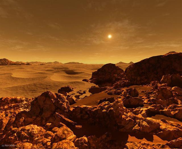 Sol visto de Marte